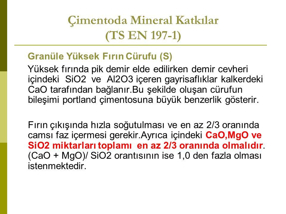 Çimentoda Mineral Katkılar (TS EN 197-1)