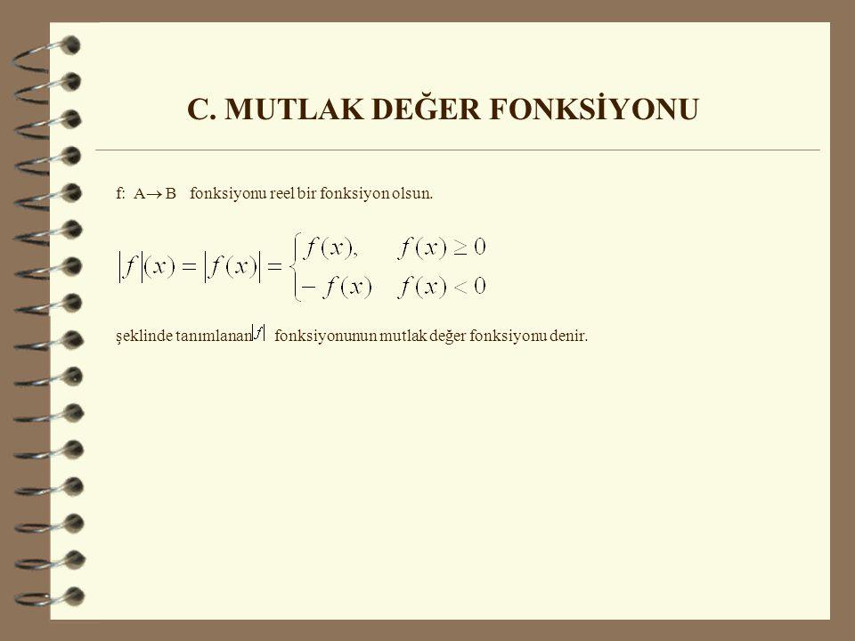 C. MUTLAK DEĞER FONKSİYONU
