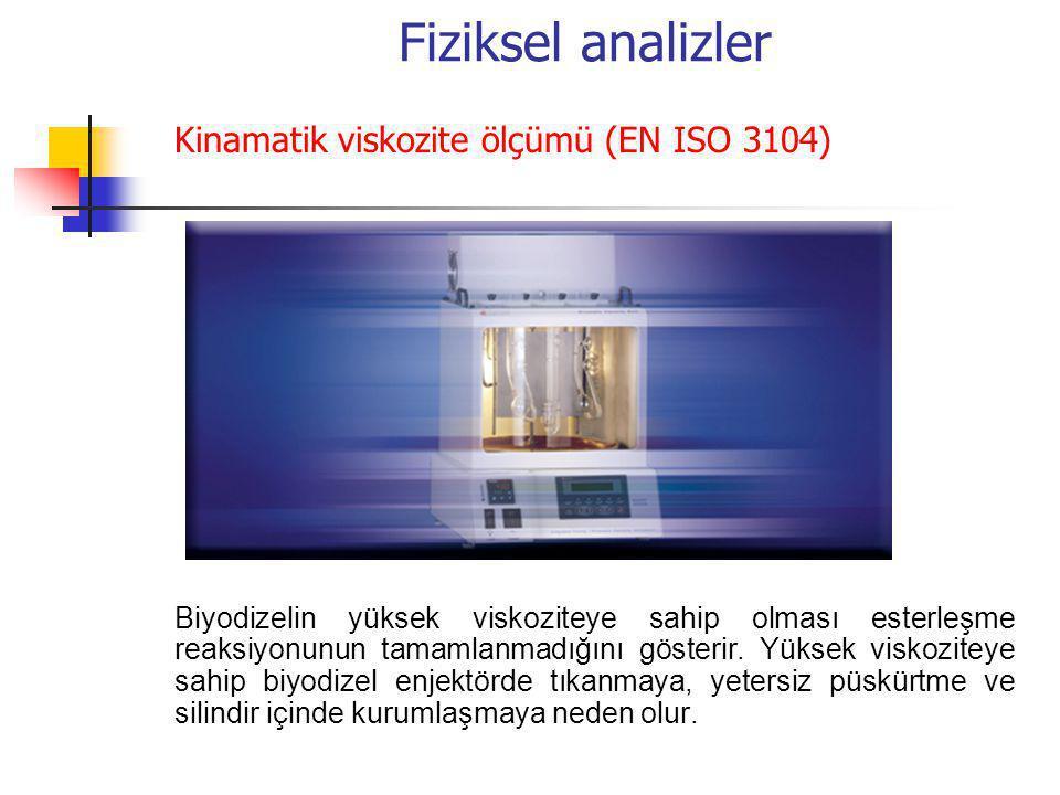 Fiziksel analizler Kinamatik viskozite ölçümü (EN ISO 3104)