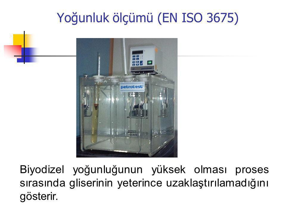Yoğunluk ölçümü (EN ISO 3675)