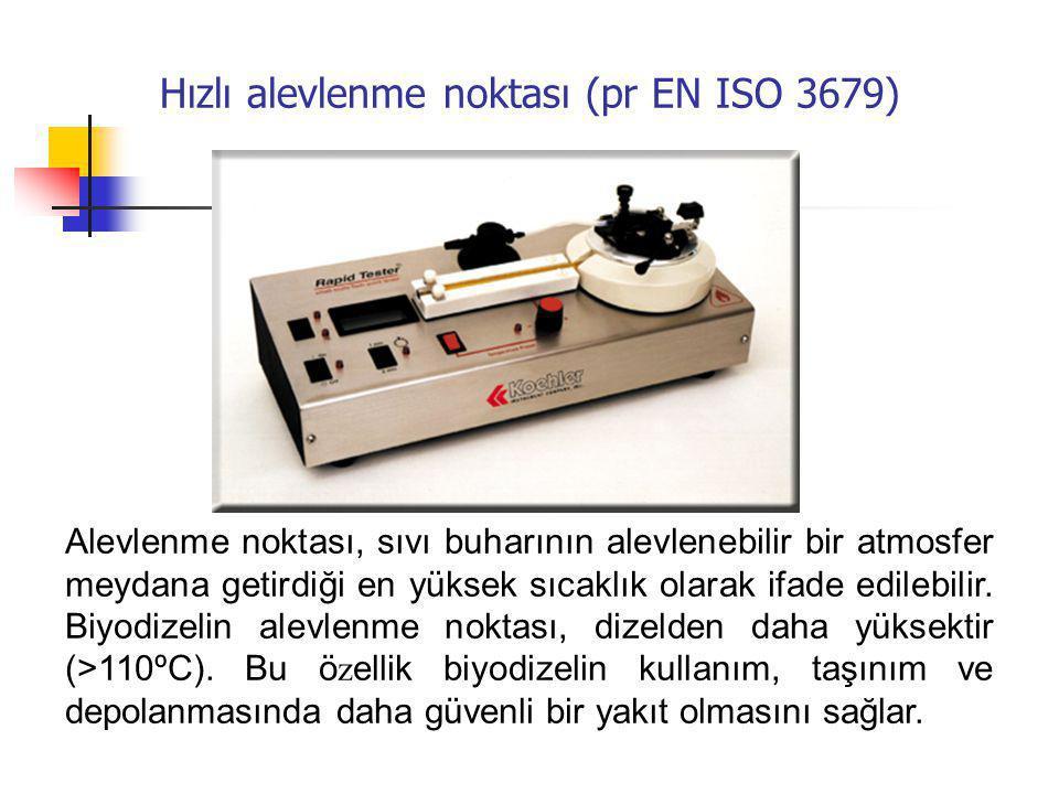 Hızlı alevlenme noktası (pr EN ISO 3679)