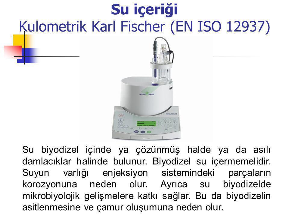 Su içeriği Kulometrik Karl Fischer (EN ISO 12937)