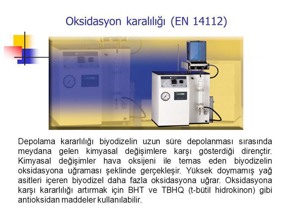 Oksidasyon karalılığı (EN 14112)