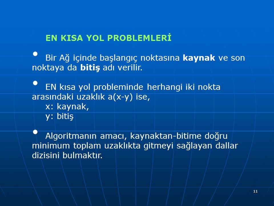 EN KISA YOL PROBLEMLERİ