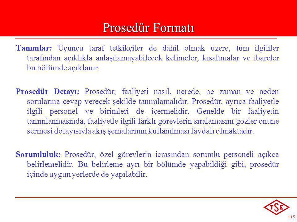 Prosedür Formatı
