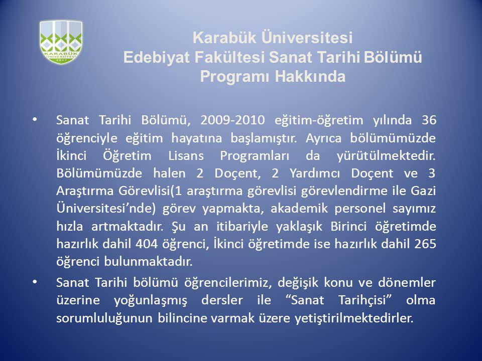 Edebiyat Fakültesi Sanat Tarihi Bölümü