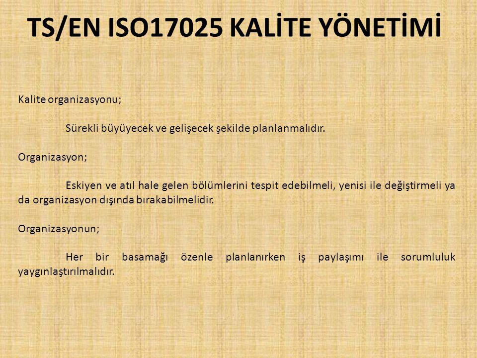TS/EN ISO17025 KALİTE YÖNETİMİ