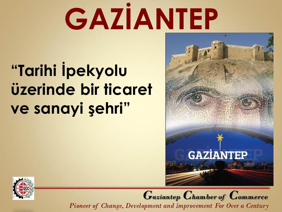 GAZİANTEP Tarihi İpekyolu üzerinde bir ticaret ve sanayi şehri