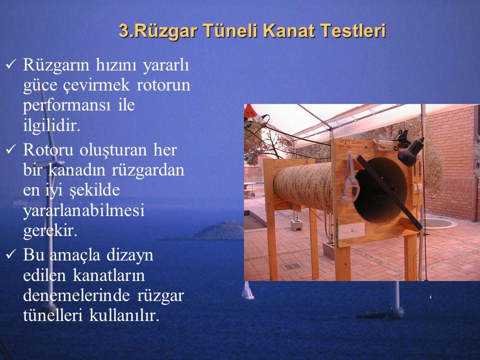 3.Rüzgar Tüneli Kanat Testleri