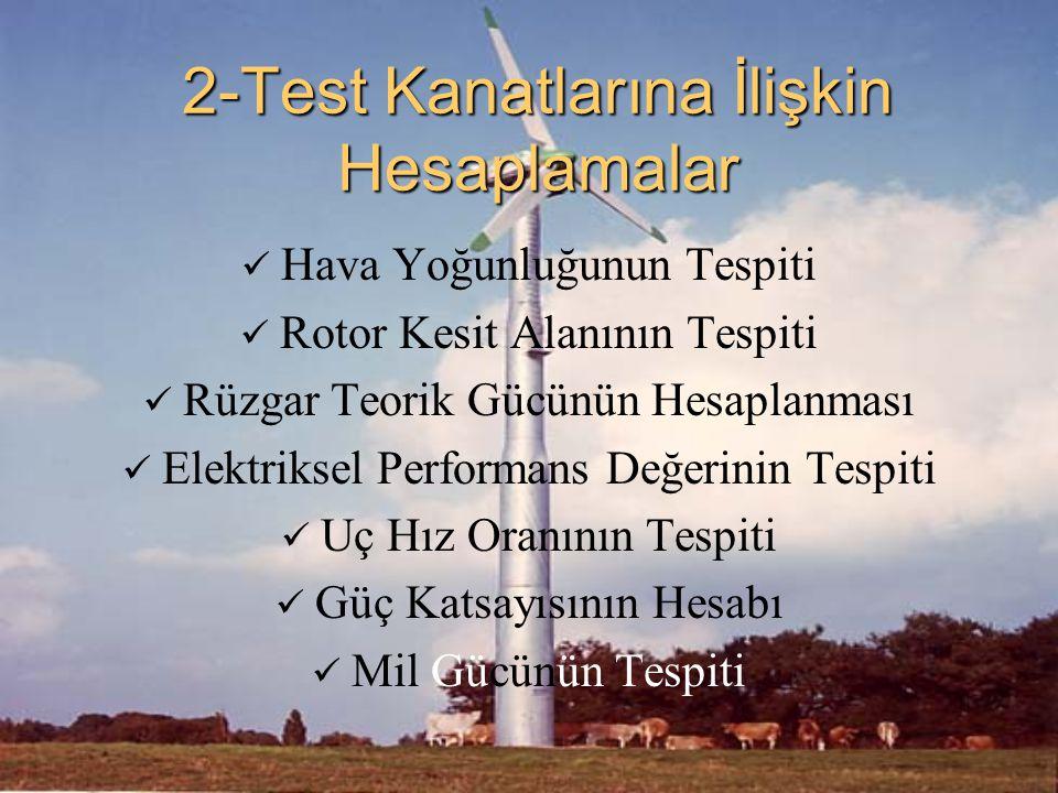 2-Test Kanatlarına İlişkin Hesaplamalar