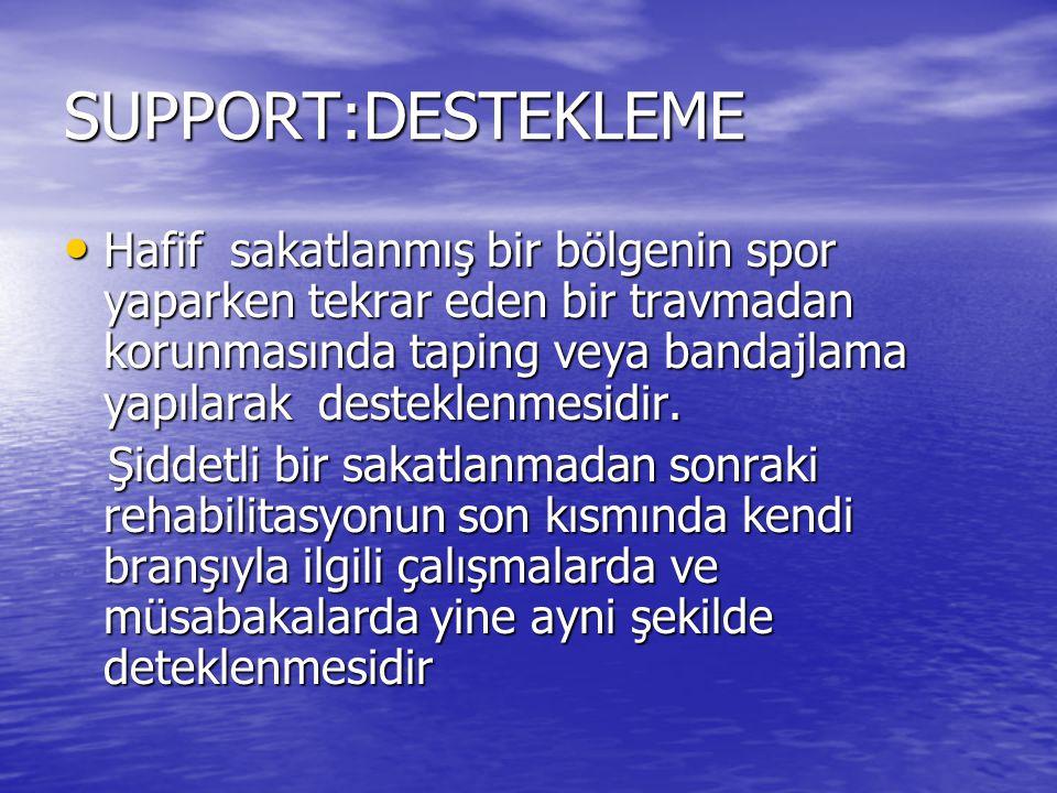 SUPPORT:DESTEKLEME