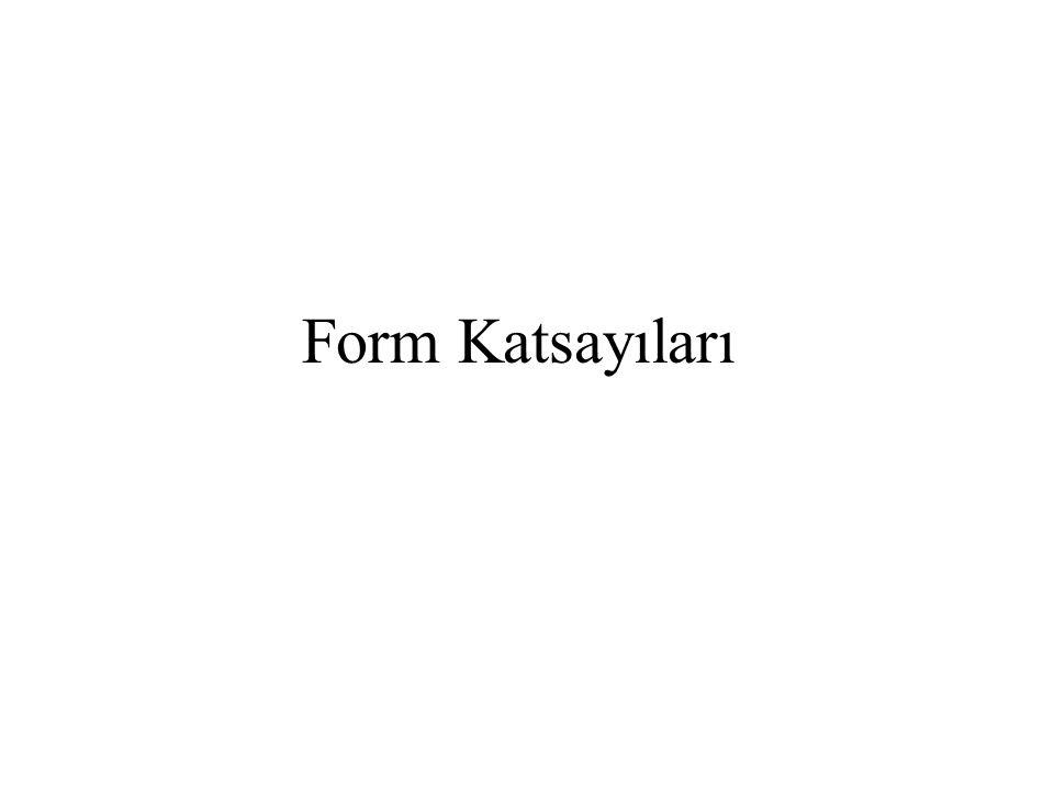 Form Katsayıları