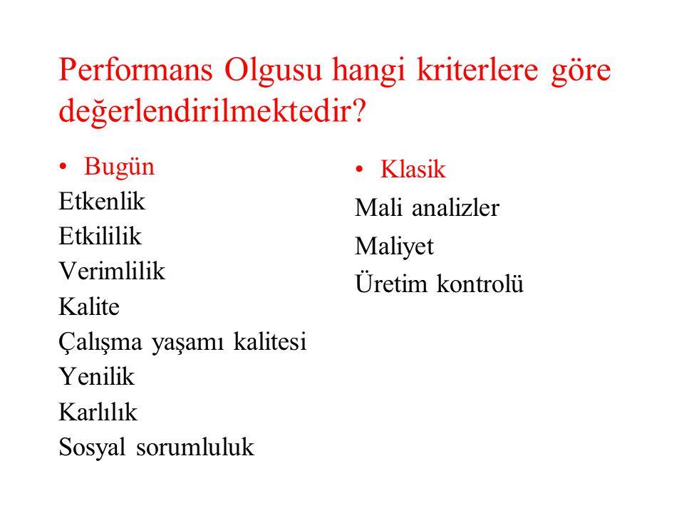 Performans Olgusu hangi kriterlere göre değerlendirilmektedir