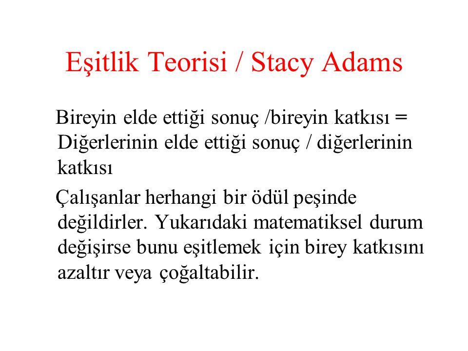 Eşitlik Teorisi / Stacy Adams
