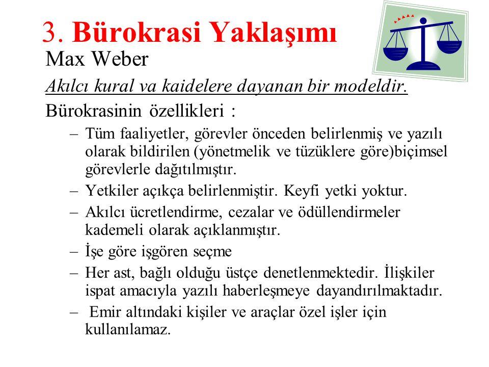 3. Bürokrasi Yaklaşımı Max Weber