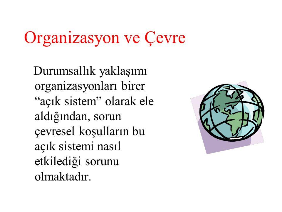 Organizasyon ve Çevre