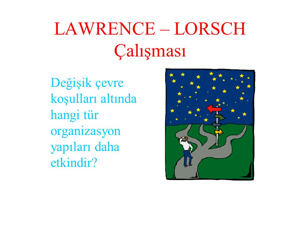 LAWRENCE – LORSCH Çalışması