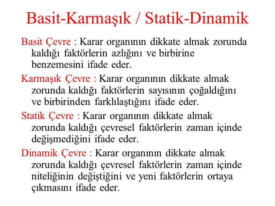 Basit-Karmaşık / Statik-Dinamik