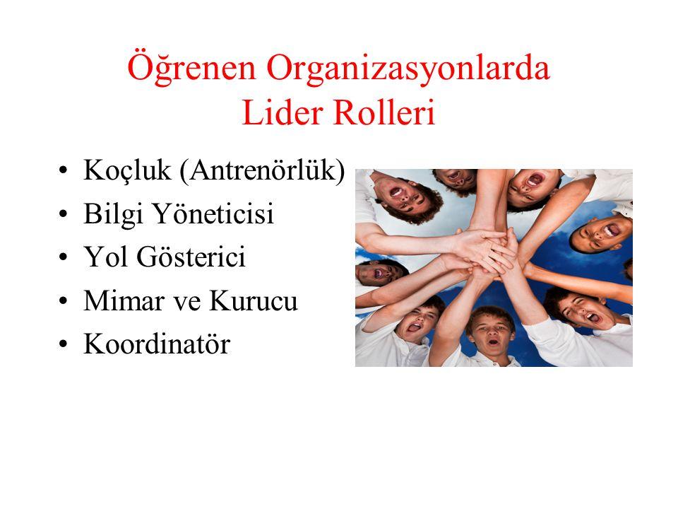 Öğrenen Organizasyonlarda Lider Rolleri