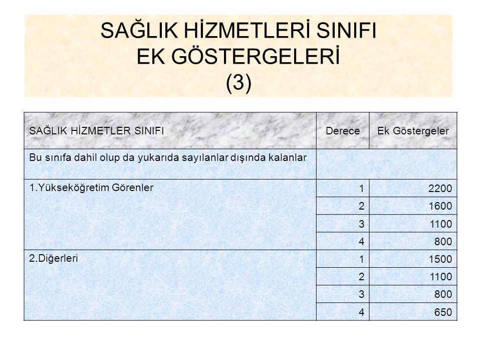 SAĞLIK HİZMETLERİ SINIFI EK GÖSTERGELERİ (3)