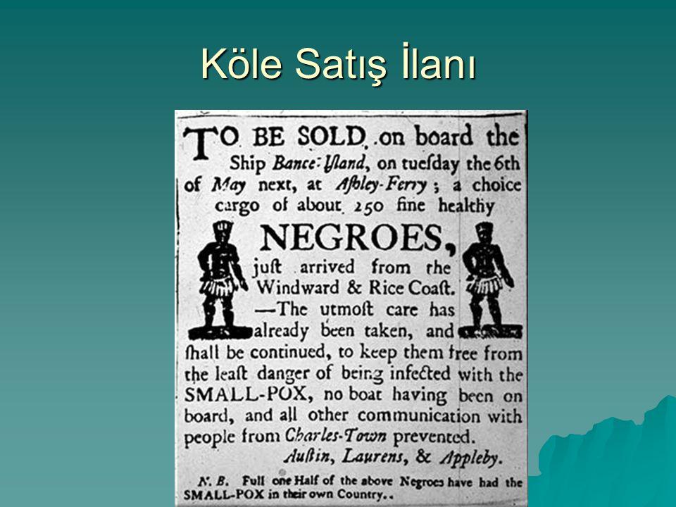 Köle Satış İlanı