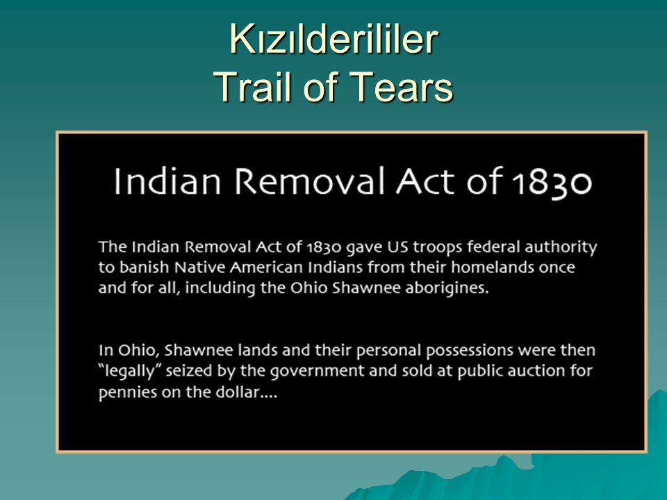 Kızılderililer Trail of Tears