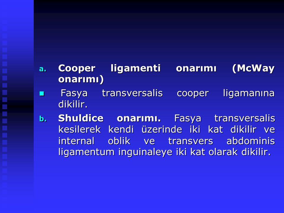 Cooper ligamenti onarımı (McWay onarımı)