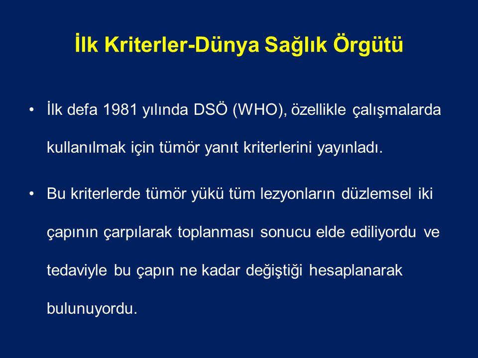 İlk Kriterler-Dünya Sağlık Örgütü