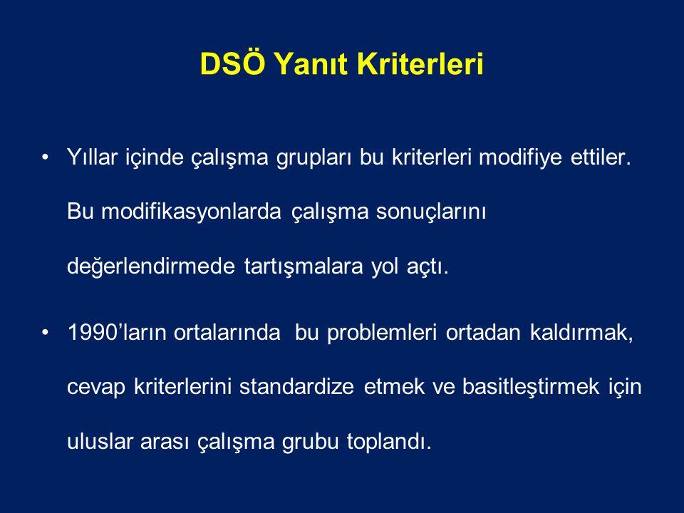 DSÖ Yanıt Kriterleri