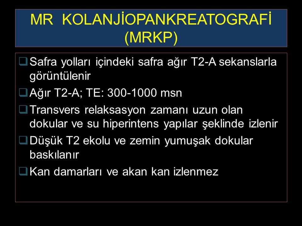 MR KOLANJİOPANKREATOGRAFİ (MRKP)