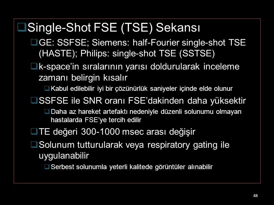 Single-Shot FSE (TSE) Sekansı
