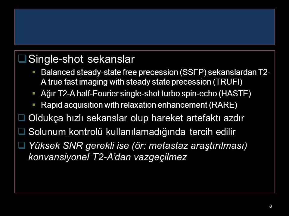 Single-shot sekanslar