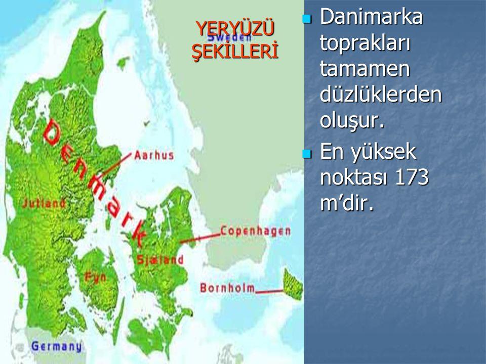 Danimarka toprakları tamamen düzlüklerden oluşur.