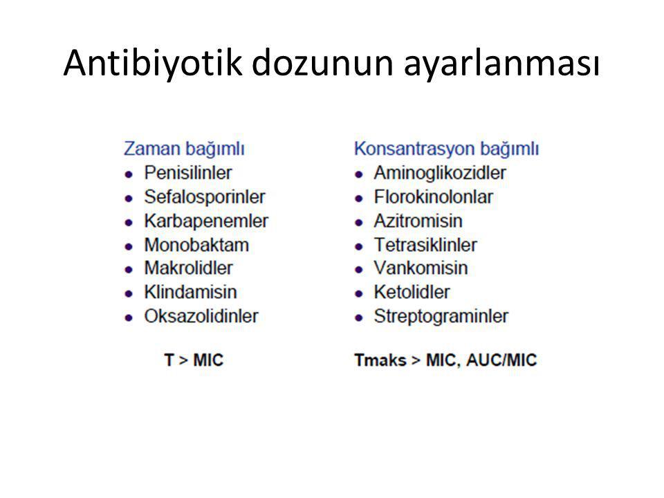 Antibiyotik dozunun ayarlanması