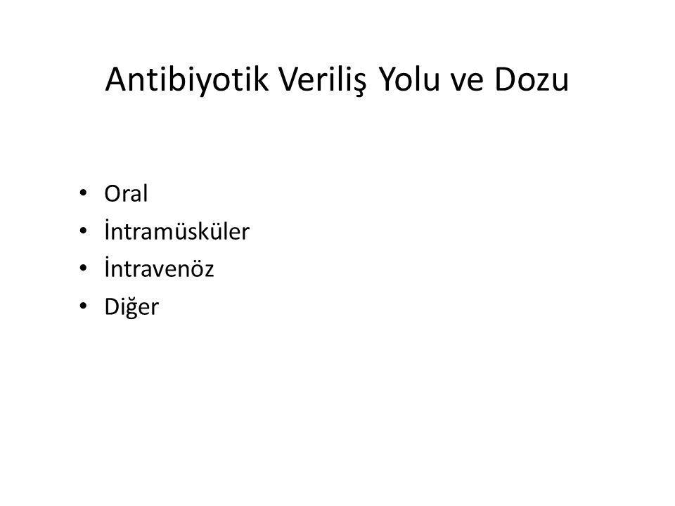 Antibiyotik Veriliş Yolu ve Dozu