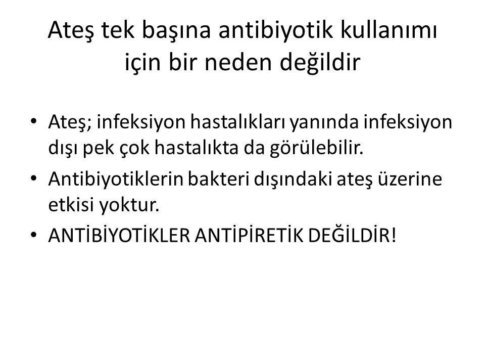Ateş tek başına antibiyotik kullanımı için bir neden değildir