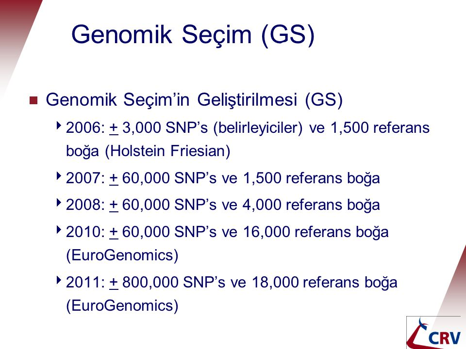 Genomik Seçim (GS) Genomic selection