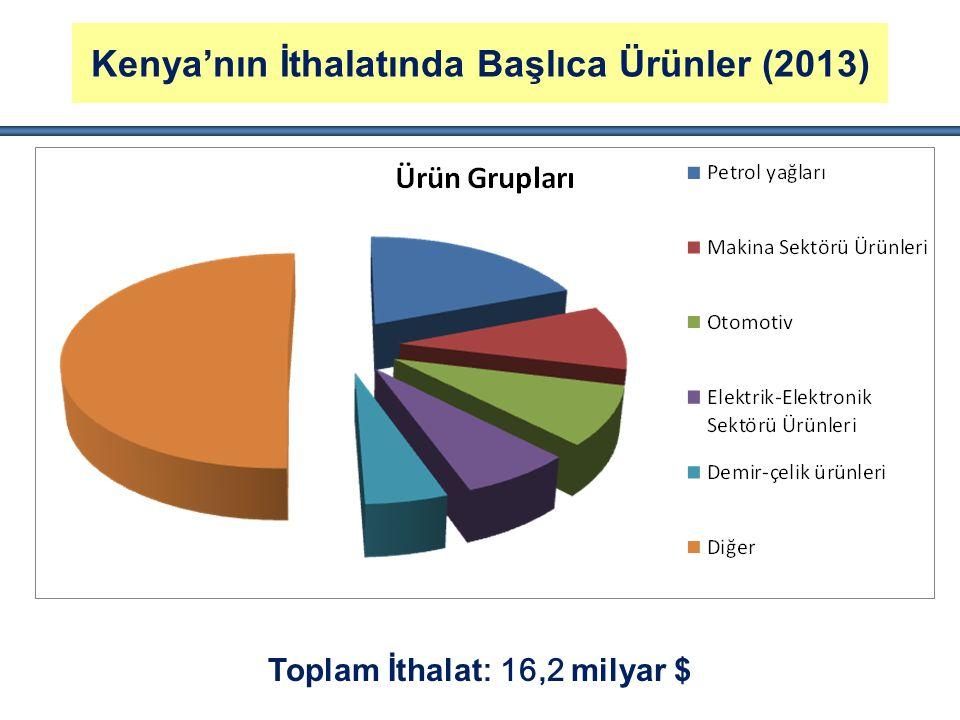 Kenya'nın İthalatında Başlıca Ürünler (2013)