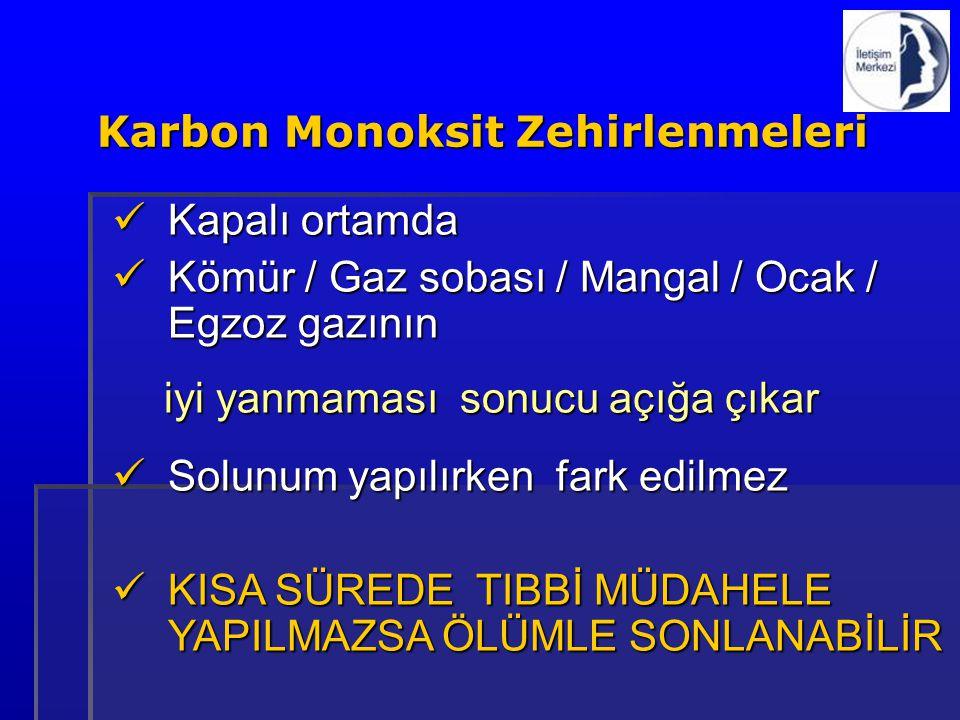 Karbon Monoksit Zehirlenmeleri