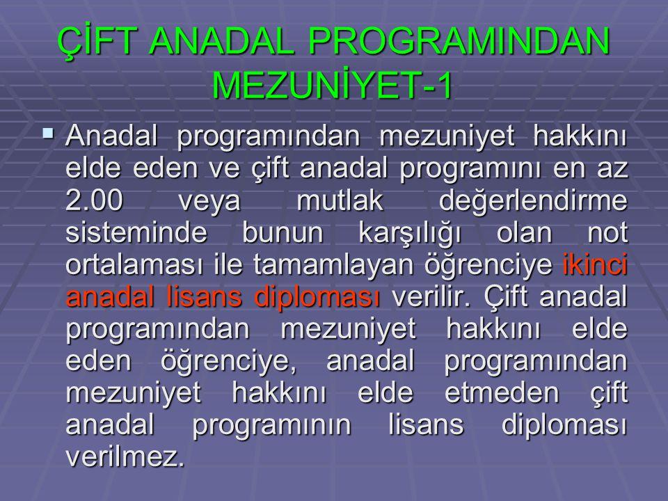 ÇİFT ANADAL PROGRAMINDAN MEZUNİYET-1