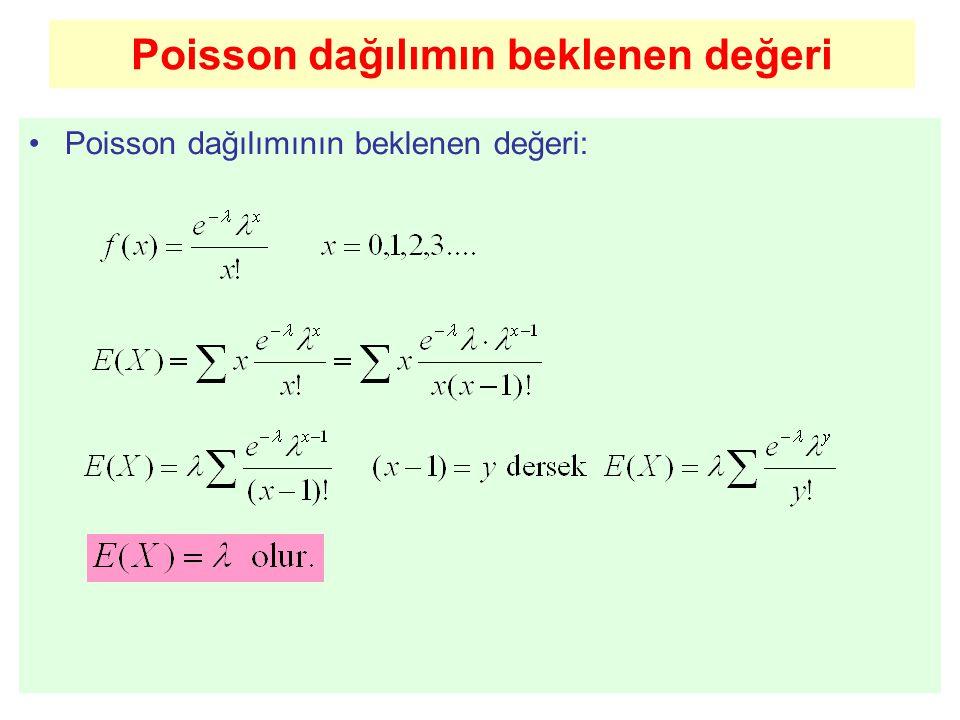 Poisson dağılımın beklenen değeri