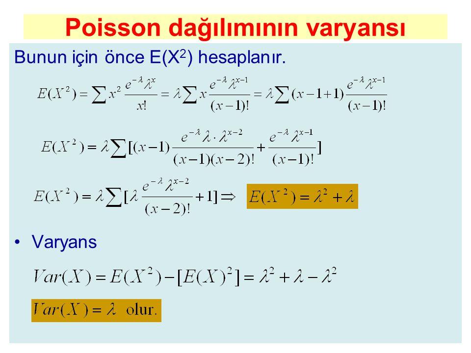 Poisson dağılımının varyansı