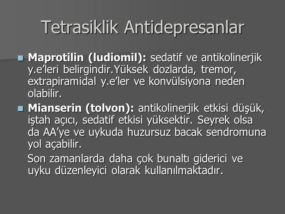 Tetrasiklik Antidepresanlar