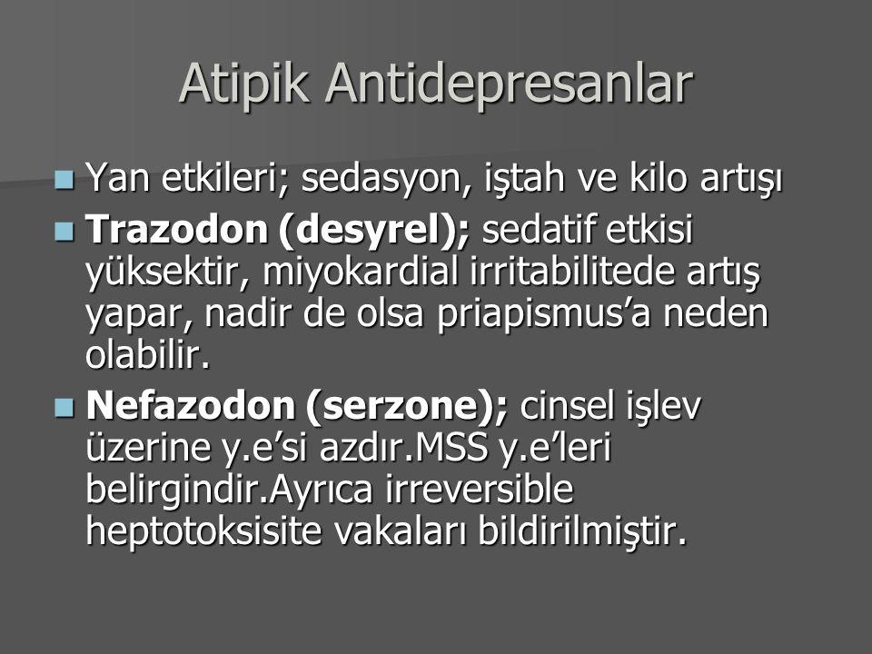 Atipik Antidepresanlar