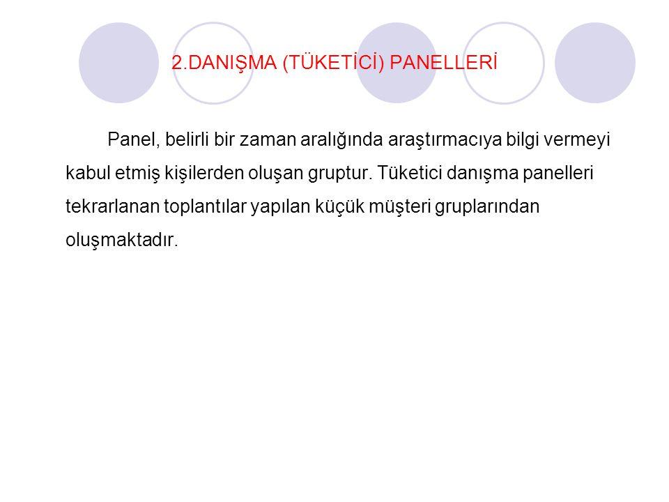 2.DANIŞMA (TÜKETİCİ) PANELLERİ