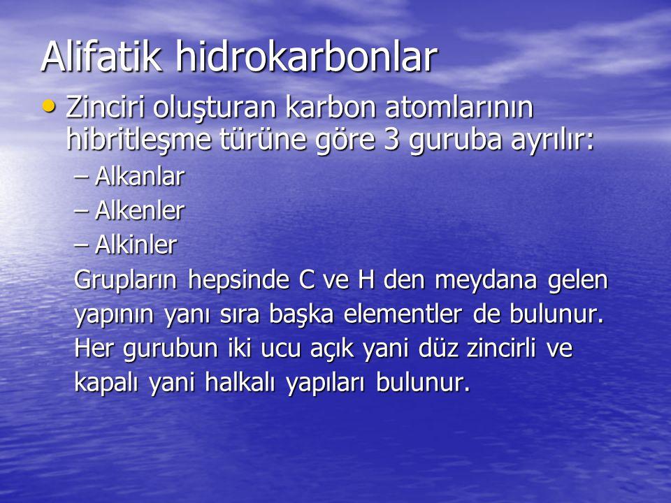 Alifatik hidrokarbonlar
