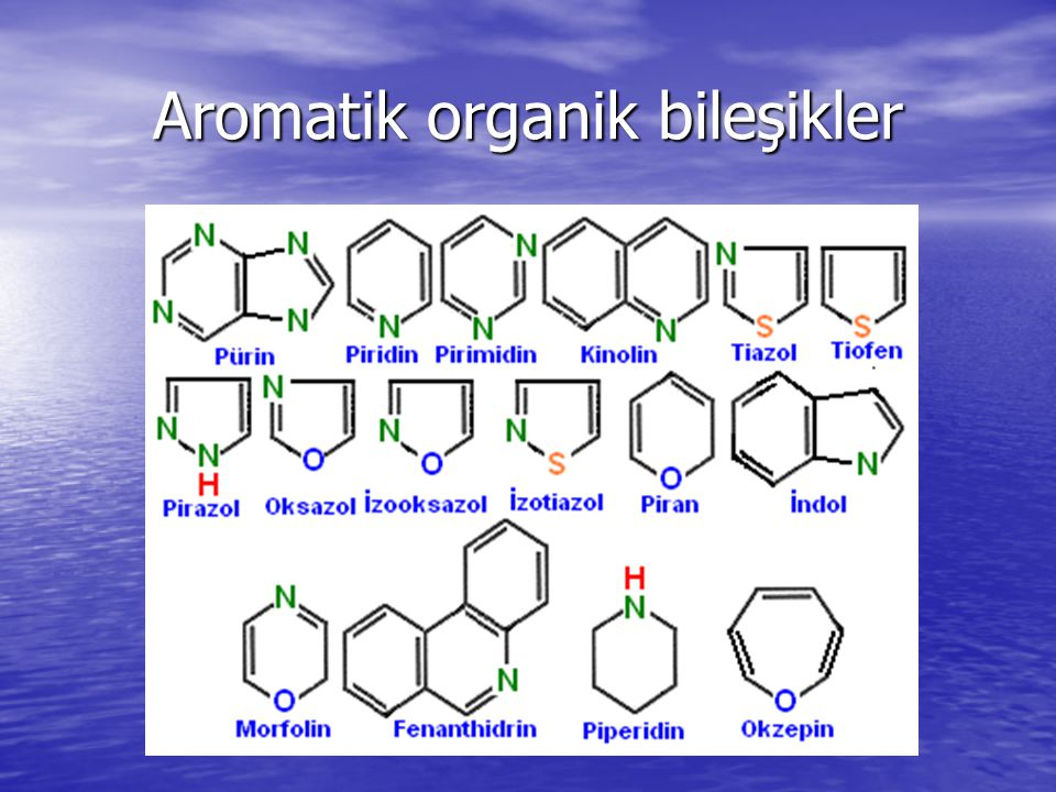 Aromatik organik bileşikler
