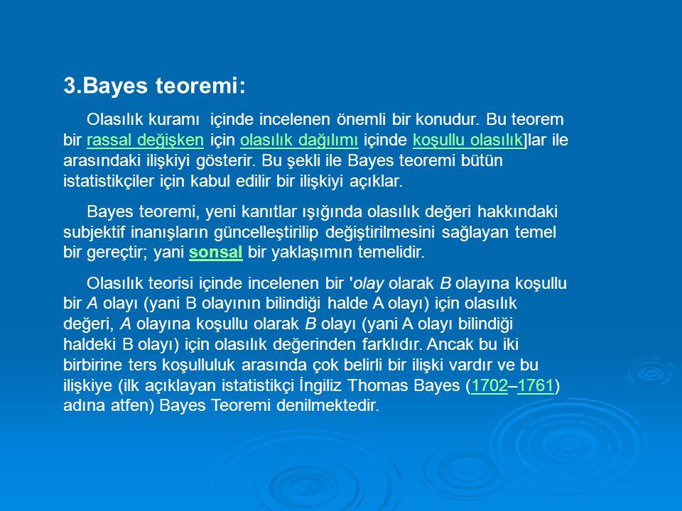 3.Bayes teoremi: