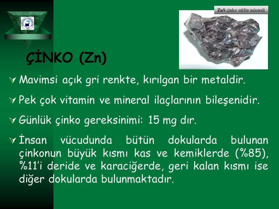 ZnS çinko sülfür minerali