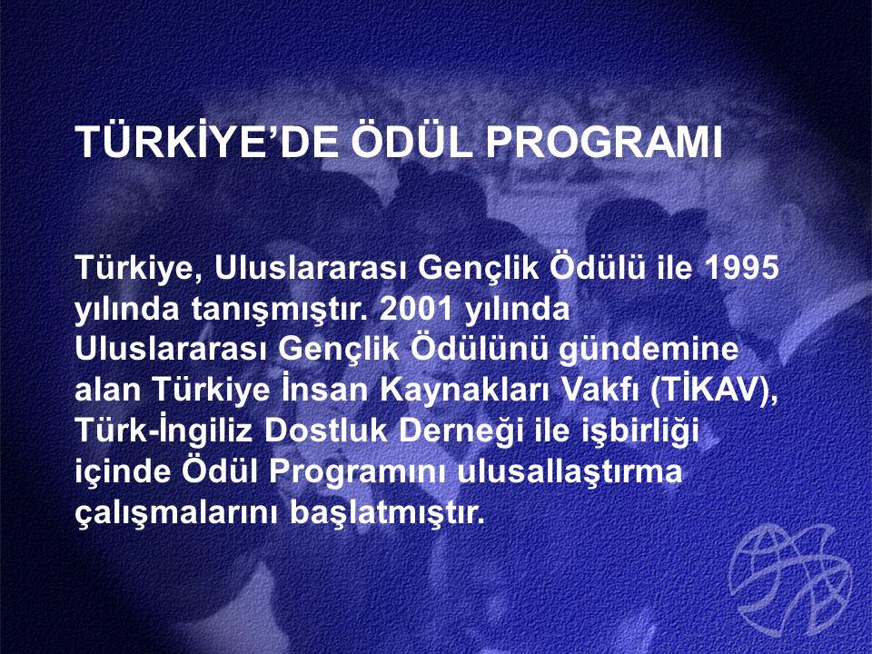 TÜRKİYE'DE ÖDÜL PROGRAMI